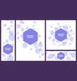 abstract hexagonal structure banner hexagons vector image vector image