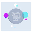 account profile report edit update white line vector image vector image