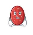 afraid salami mascot cartoon style vector image vector image