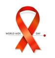AIDS ribbon vector image vector image