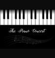background design with piano vector image vector image