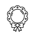 bamirror toy line icon concept sign outline vector image vector image