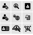 black people search icon set vector image vector image
