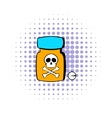 Bottle with poison icon comics style vector image vector image