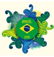 brazil summer 2016 with colorful waves vector image