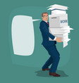 businessman or manager carries working papers vector image vector image