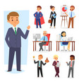 businessman people work place and business vector image vector image