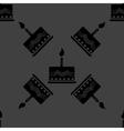 cake web icon flat design Seamless gray pattern vector image vector image
