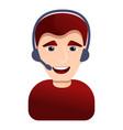 call center man icon cartoon style vector image vector image