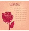 card with beautiful hand drawn rose and place for vector image vector image