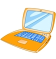 cartoon laptop vector image vector image