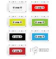 Cassette Design Set vector image vector image