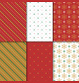 christmas and happy new year seamless pattern set vector image vector image