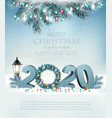 christmas holiday background background with 2020 vector image vector image