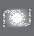 circle round arrow on grey background vector image vector image