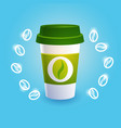 coffee take away cup break breakfast drink vector image