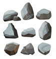 colored cartoon stones granite large and small vector image