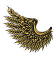 colorful eagle wing wheat ears vector image vector image
