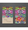 Colorful ornamental ethnic booklet set vector image