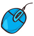 computer mouse icon with a black outline on a vector image vector image