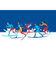 cross country ski race vector image vector image