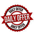 daily offer label or sticker vector image vector image