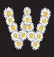 Daisy flower letter vector image vector image