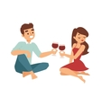 date flirting boy and girl vector image vector image