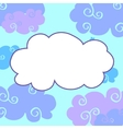 daytime cartoon clouds frame vector image
