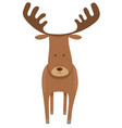 deer or moose cartoon animal character vector image