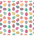 easter seamless pattern with painted eggs vector image
