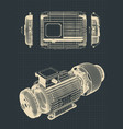 eectric motor drawings vector image