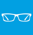 eye glasses icon white vector image