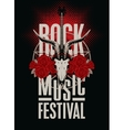 festival rock music vector image vector image