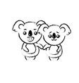figure cute couple koala wild animal with vector image vector image
