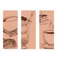 food sketch banner natural menu restaurant vector image vector image
