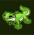 gecko logo funny cartoon character vector image vector image