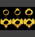 gold frame game rank round avatar template 6