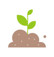 growing sprout from soil icon agriculture and vector image vector image