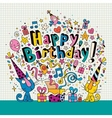 Happy Birthday card with cute kittens vector image vector image