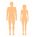 human silhouettes man and woman vector image vector image