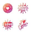 I love You logo badges vector image vector image