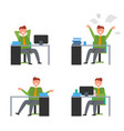 icons with man in office vector image vector image