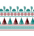 indian tribal background simple flat wigwam vector image vector image