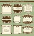 label frames with decor vignettes vector image