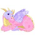 lady Dragon vector image vector image