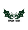 logo dragon house vector image