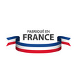 made in france colored ribbon with french tricolor vector image vector image