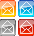 Mail buttons vector image vector image