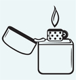 Metal lighter vector image